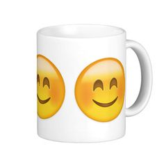 Smiling Face With Smiling Eyes Emoji Coffee Mugs
