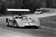 (5) Denny Hulme - McLaren M8B Chevrolet - McLaren Cars, Ltd. (4) Bruce McLaren - McLaren M8B Chevrolet - McLaren Cars, Ltd. - Road America Can-Am Championship - 1969 Canadian-American Challenge Cup, round 6