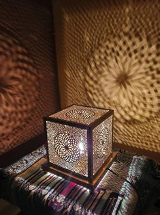 Unique Art Deco Cubic Table Lamp For Art Lovers This Design of this lamp is inspired from Space Beautiful Moroccan handcrafted Copper Standing Lamp with beautiful Shapes pattern - Size : inches Width / inches Length - custom size on demand - Colors
