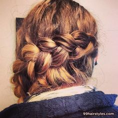 cute braided hairstyle - 99 Hairstyles Ideas