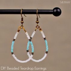 Easy Diy Beaded Earrings - Diy Beaded Earrings Teardrop Tutorial Crafts Unleashed 20 Easy Diy Jewelry Projects For Beginners Diy Seed Bead This Cascading Earring Design Is A Qui. Homemade Jewelry, Diy Jewelry Making, Homemade Gifts, Diy Schmuck, Schmuck Design, Seed Bead Jewelry, Wire Jewelry, Diy Seed Bead Earrings, Bead Jewellery