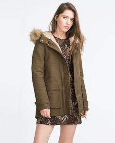 Image 2 of PARKA WITH HOOD from Zara