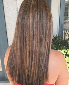 Straight Hair Highlights, Balayage Straight Hair, Brown Hair With Caramel Highlights, Brown Straight Hair, Brown Hair Balayage, Long Brown Hair, Balayage Brunette, Light Brown Hair, Ombre Hair