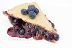 Clean Eating Blueberry Pie