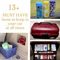 It's good to be prepared in the car whether it's a road trip or even a quick trip to the grocery store or ballgame, you never know when emergencies will com