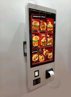 Kiosk Design, Signage Design, Display Design, Digital Menu Boards, Digital Signage, Menu Board Design, Menu Design, Information Kiosk, Work Cafe