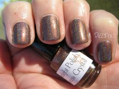 From Starlight and Sparkles Polish - Cocoa Crystal is a cool-toned taupe brown holo.