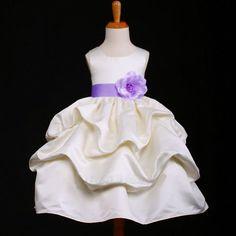 """Φορέματα για Παρανυφάκια - Επίσημα Φορέματα για Κορίτσια :: Προσφορά, Φόρεμα για Παρανυφάκι, Πάρτυ σε Ιβουάρ, Κρεμ με Λιλά ζώνη 6-7 Χρονών """"Pandora"""" - http://www.memoirs.gr/"""