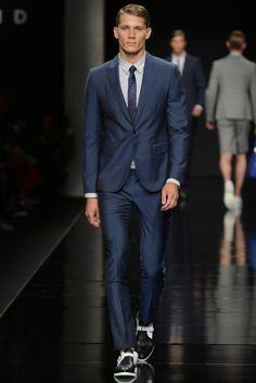 suitor in blue John Richmond Men's RTW Spring 2015