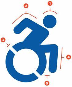 Local disability advocates work to bring updated handicap signs to Augusta Logan, Icon Design, Logo Design, Web Design, Design Ideas, Graphic Design, International Symbols, Social Media Design, School Design