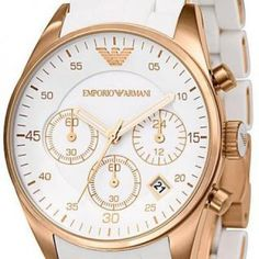 Emporio Armani Sportivo White Silicon Ladies Watch Ar5920 #nyc