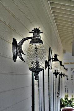 27 Photos of Beauteous Outdoor Lamps Interiordesignshome.com Pineapple outdoor lights