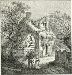 GREEN ST, ENFIELD HIGHWAY. John Thomas Smith's twenty etchings of extravagantly rustic cottages published as Remarks On Rural Scenery Of Various Features & Specific Beauties In Cottage Scenery in 1797
