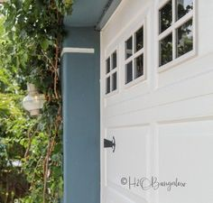 How to Paint a Garage Door and Create Handmade Faux Windows using a HomeRight Paint Sprayer