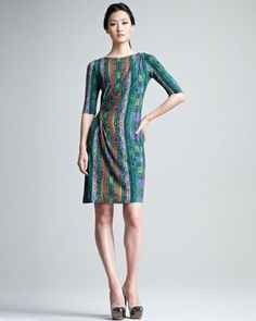 $865 Printed Half-Sleeve Jersey Dress by Etro at Bergdorf Goodman.