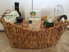 """A """"thank you"""" Gift Basket for one of our favourite corporate clients. Containing all natural and organic products."""