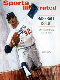 Sandy Koufax Sports Illustrated Cover (by Bernie Fuchs), 1964