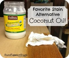SunflowerHugs: Seaworthy + Coconut Table - using coconut oil for stain alternative