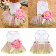 Cute Puppy Pet Small Dog Summer Clothes Apparel Costume Lace Cat Princess Dress