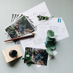 Save the Date postcard style with photography and calligraphy addressing for a Portuguese countryside wedding