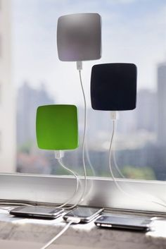 Solar chargers. Awesome. - Click image to find more technology Pinterest pins #charger #technology