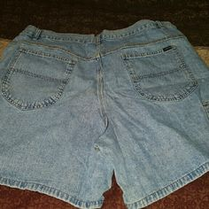 Lee denim shorts Light blue denim shorts with extra pockets on the side of the legs. They're high waisted. They come to mid-thigh  (depending on body style). Lee Shorts Jean Shorts