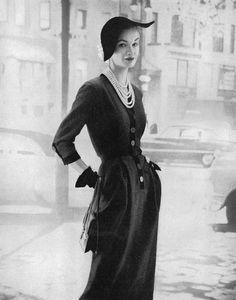 Sunny Harnett wearing Larry Aldrich 1952