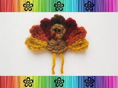 Turkey Appliqué Crochet pattern by EverLaughter
