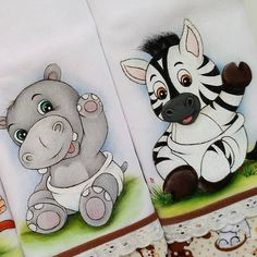 Stair Rods For Carpet Runners Animal Paintings, Animal Drawings, Cute Drawings, Baby Painting, Fabric Painting, Ganesha Drawing, Baby Shower Labels, Tatty Teddy, Diy Canvas Art
