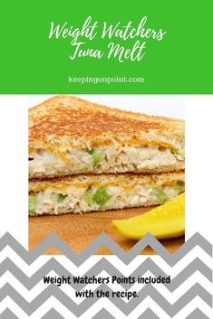 This Tuna Melt is delicious and perfect for Weight Watchers!