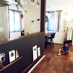 Kitchen/ポスター/飾り棚/アクセントクロス/無垢の床/ラダー...などのインテリア実例 - 2016-08-26 03:38:55