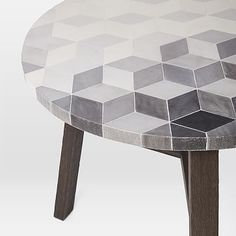 Mosaic Tiled Bistro Table - Isometric Concrete #westelm