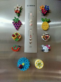 Quilled fridge magnets