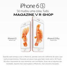iPhone 6S tem tela de 4,7 polegadas e iPhone 6S Plus, de 5,5 polegadas - https://www.magazinevoce.com.br/magazinevrshop/busca/iPhone/?sort=-price
