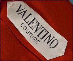 etichetta tessuta vintage valentino
