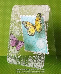 Acetate Butterflies Mothers Day Card Side View by prospurring (Anne), via Flickr