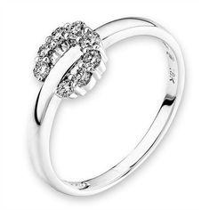 Diamantring Blüte, Weißgold 750, 8 Diamanten