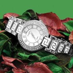 FW856B Shiny Silver Band White Dial Ladies Women Stylish Crystal  Bracelet Watch