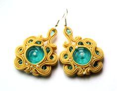 you are my sunshine -  soutache earrings  free shipping. $35.00, via Etsy.