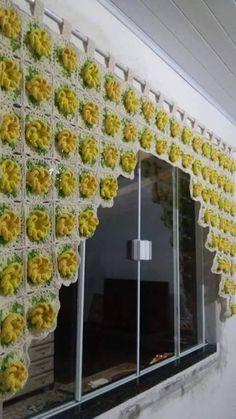 cortina de croche                                                                                                                                                                                 Mais