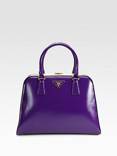 Prada - Frame Satchel in purple