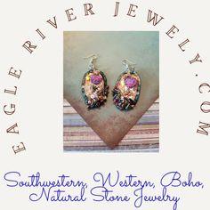 Womens Western Hats, Western Boots, Wire Jewelry Making, Southwestern Jewelry, Selling Jewelry, Stone Jewelry, Westerns, Jewelry Design, Drop Earrings