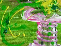 "Ausschnitt aus ""Blumen aus dem Garten sind am schönsten"" by Jeannette Keller-Wind http://silmarilknittings.blogspot.de/search/label/Malen"