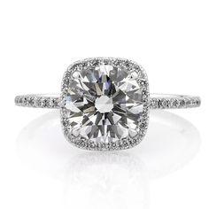 @Mark Broumand 2.66ctw Round Brilliant Cut Diamond Engagement Ring