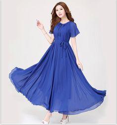 86216d3864e New summer Maternity Dresses long Chiffon Bohemian Dress Clothes For Pregnant  Women Short sleeve Maternidade Pregnancy