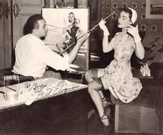 ORIGINAL ELVGREN EASEL Only one Gil Elvgren for all Pin-ups Coke Coca-Cola Pinup illustrations Price Reduced American Heritage. $74,975.00, via Etsy.