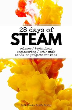 STEAM projects for kids! Science, technology, engineering, art and math activities perfect for science fairs, after school and classrooms. and technology 28 Days of STEAM Projects for Kids Kid Science, Stem Science, Science And Technology, Forensic Science, Computer Science, Technology Gadgets, Engineering Technology, Energy Technology, Engineering Science Fair Projects