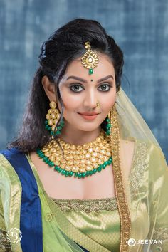 bridal jewelry for the radiant bride Beautiful Girl Photo, Beautiful Girl Indian, Most Beautiful Indian Actress, Beautiful Bride, Beautiful Women, Cute Beauty, Beauty Full Girl, Beauty Women, Women's Beauty