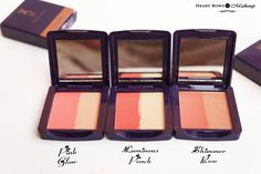 Oriflame The ONE Illuskin Blush Review & Swatches! http://www.heartbowsmakeup.com/oriflame-illuskin-blush-review-swatches-pink-glow-luminous-peach-shimmer-rose/