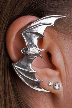 Silver Bat Ear Wrap by martymagic on Etsy, $149.00